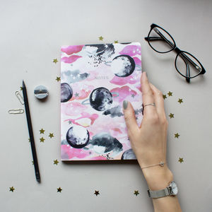 Limited Edition A5 Pink Celestial Planet Notebook