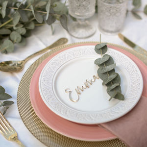 Laser Cut Place Cards - hothouse wedding trend