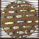 Chocolate Gift Personalised Message With Fish Pattern