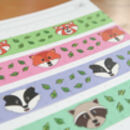 Cute Animal Washi Tape Pack Of Four