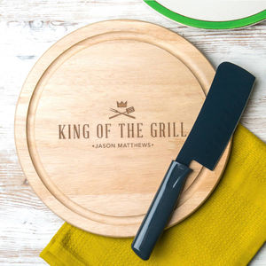 Personalised 'King Of The Grill' Serving Board - kitchen