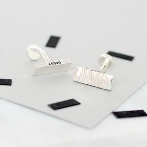 Personalised Secret Message Cufflinks - men's accessories