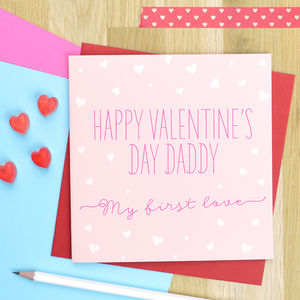 Daddy Valentine's Day Card 'First Love'