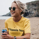 'Vitamin Sea' Slogan T Shirt In Yellow And Tote Bag