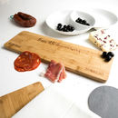 Personalised 5th Anniversary Bamboo Serving Board