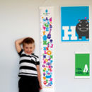 Personalised Animal Alphabet Canvas Height Chart