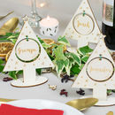 Personalised Christmas Tree Place Setting Decorations