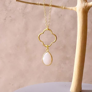 Clear Quartz April Birthstone Necklace - necklaces & pendants