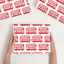 Personalised Christmas London Bus Wrapping Paper