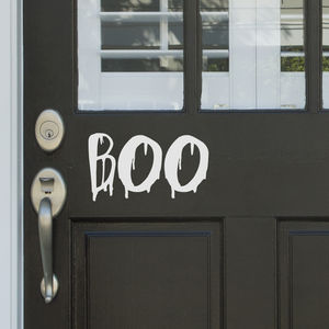 'Boo' Door Or Wall Vinyl Decal - bedroom
