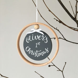 Personalised First Christmas Decoration - christmas decorations