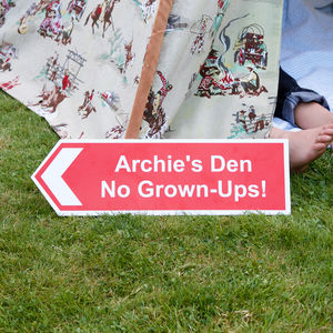 Personalised Children's Directional Sign - children's room accessories