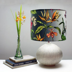 Tropical Hothouse Botanical Print Lampshade - bedroom