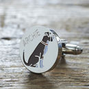 Daddy And Me Boxer Cufflinks And Dog Tag Set