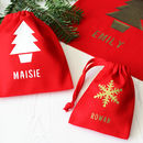 Personalised Christmas Gift Bags