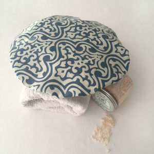Waterproof Shower Cap In Eastern Swirl Print