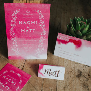 Quartz Watercolour Wash Wedding Stationery Collection - invitations