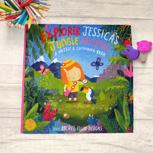 Jessica's Jungle Adventure Puzzle And Colouring Book - toys & games
