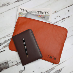 Personalised Leather Laptop Sleeve / Document Portfolio - laptop bags & cases