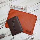 Personalised Leather Laptop Sleeve / Document Portfolio