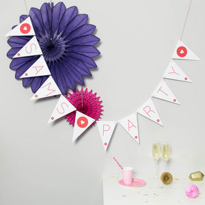 Bespoke Personalised Large Card Bunting - hen party gifts & styling