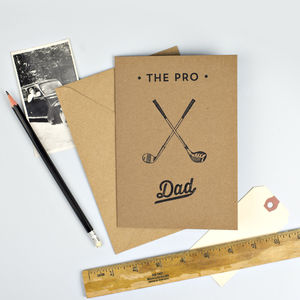 'The Pro' Golf Card For Dad