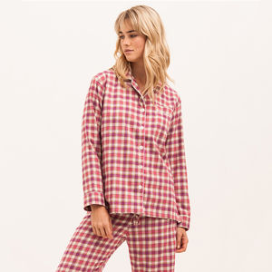 Women's Brushed Cotton Pink Pyjamas - lingerie & nightwear