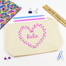 Personalised Heart Name Pencil Case