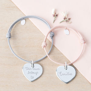 Personalised Heart Charm Bracelet - gifts for mothers