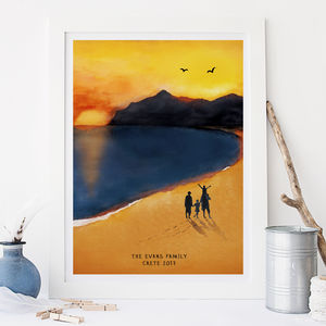 Personalised Family Summer Adventure Illustration - gifts from younger children