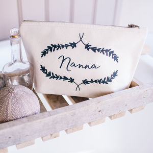 Personalised Lavender Wash Bag Or Toiletry Bag