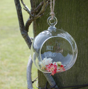 Personalised Glass Globe Terrarium - gifts for her