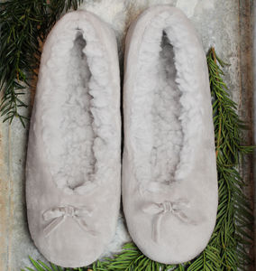 Dove Cloud Ballerina Slippers - shoes