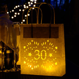 30th Birthday Lantern Bag Great Venue Decoration