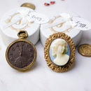 Chocolate Pocket Watch And Cameo