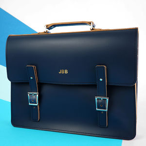 Personalised Leather Laptop Bag