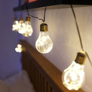 Plug In Light Bulb String Lights