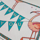 Flamingo Party Invitation And Thank You Notecards