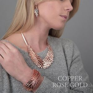 Rose Gold Feather Necklace - party wear & accessories
