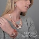 Rose Gold Feather Necklace