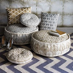 Gold And Silver Moroccan Pouffes - new in home