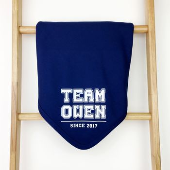 Personalised Team Baby Blanket