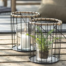 Wire And Bamboo Lantern