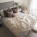 Giant Cable Knit Blanket