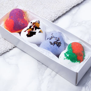 Floral Fresh Bath Bomb Hearts Collection - birthday gifts