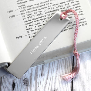 Personalised Silver Bookmark With Tassel - special work anniversary gifts