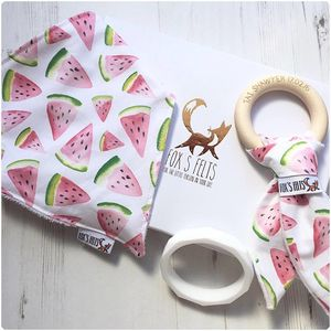 Mumma And Baby Watermelon Teething Gift Set - teethers
