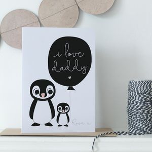 Personalised I Love Daddy Card - personalised cards