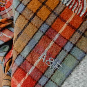 Personalised Recycled Wool Blanket In Buchanan Antique - throws, blankets & fabric