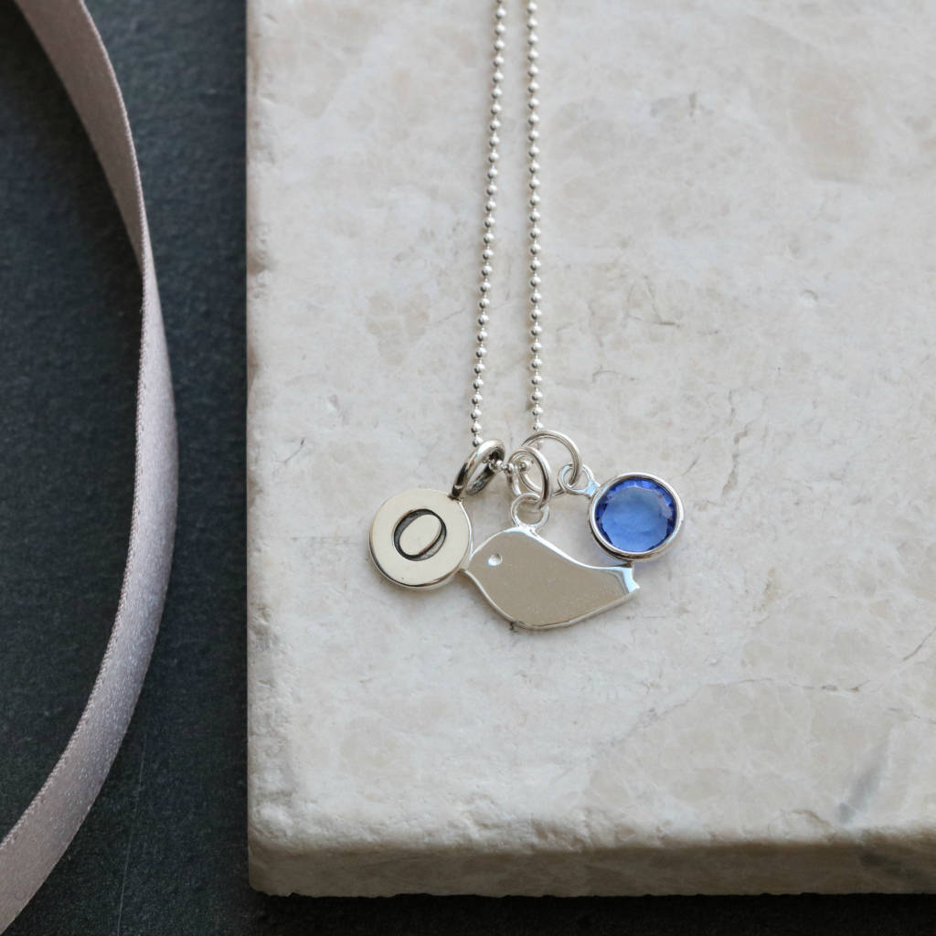 Little Bird Personalised Birthstone Necklace